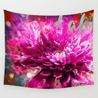 dahlia Wall Tapestries featuring Dahlia by Ville Munter