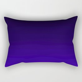 Deep Dark Indigo Ombre Rectangular Pillow