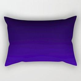 Deep Dark Indigo Ombre Rectangular Pillow