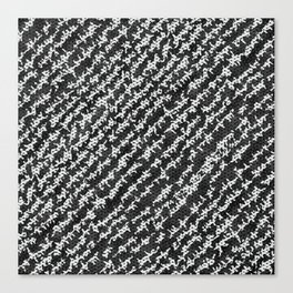 Modern Black White Popular Trendy Abstract Pattern Canvas Print
