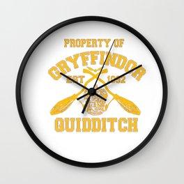Gryffindor Quidditch Wall Clock