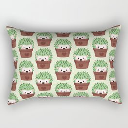 Hedgehogs disguised as cactuses Rectangular Pillow