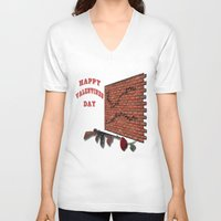 valentines V-neck T-shirts featuring Valentines Day by designx79