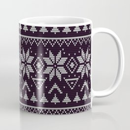 Knitted Christmas pattern in retro style 5 Coffee Mug