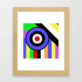 Bold Geometry - Abstract, Geometric, Retro Art Framed Art Print