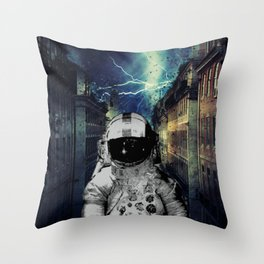Moon Man Throw Pillow
