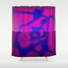Blue Color Leak Shower Curtain