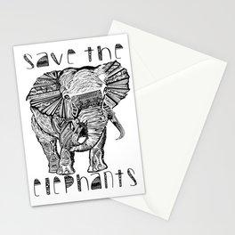 Save the elephants shirt Stationery Cards