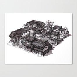Japan - Edo Period Model City Concept 02 Canvas Print