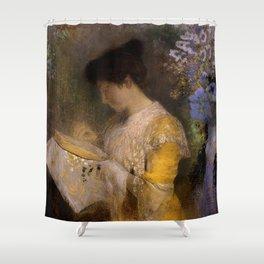 "Odilon Redon ""Madame Arthur Fontaine (Marie Escudier)"" Shower Curtain"