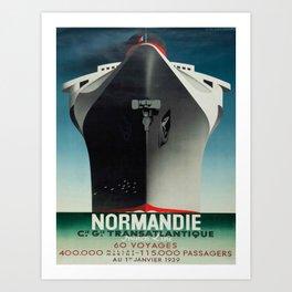 Vintage poster - Normandie Art Print