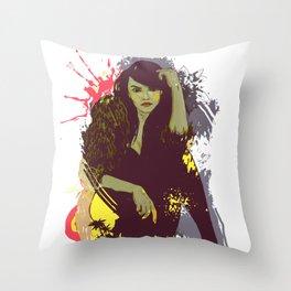 woman K. Throw Pillow