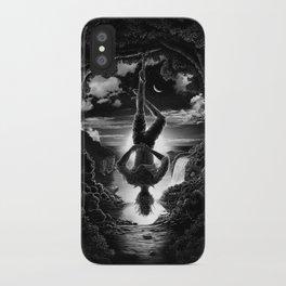 XII. The Hangman Tarot Card Illustration iPhone Case