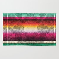 mexico Area & Throw Rugs featuring Mexico by Joanna Tadger