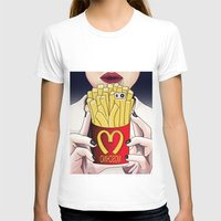 french fries T-shirts featuring I LOVE FRENCH FRIES by Analy Diego