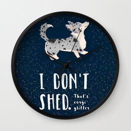 Corgi Glitter - Cardigan Welsh Corgi Wall Clock