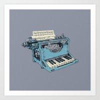 teal Art Prints featuring The Composition. by Matt Leyen