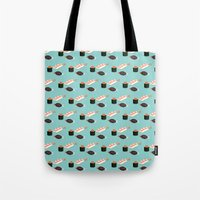 sushi Tote Bags featuring Sushi by Bronte Poynts