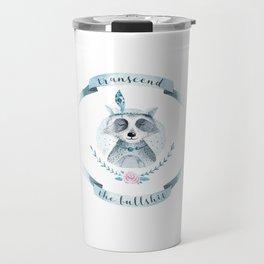 transcend the bullshit Travel Mug