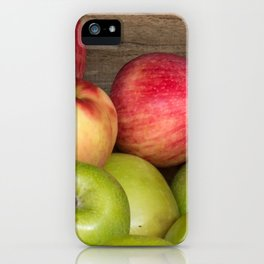 Assorted Red and Green Apples iPhone Case