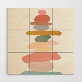 Balancing Stones 22 Wood Wall Art