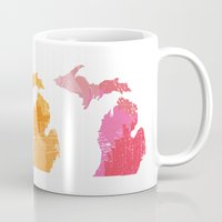 michigan Mugs featuring Michigan by Aubrey Kemme Design