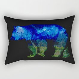 Grizzly in the Shadows Rectangular Pillow