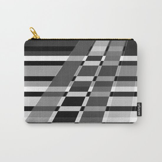 Black and white abstract pattern . The slant line 1. Carry-All Pouch