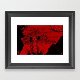 a vampire Framed Art Print
