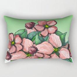 Blooming flowers Rectangular Pillow