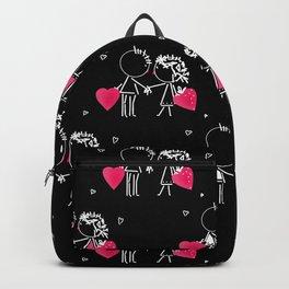 Give love Black . Backpack