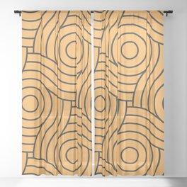Circle Swirl Pattern VA Bright Marigold - Spring Squash - Pure Joy - Just Ducky Sheer Curtain