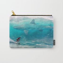 Surfing with a Giant Shark Carry-All Pouch