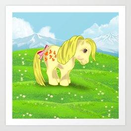 g1 my little pony Butterscotch Art Print