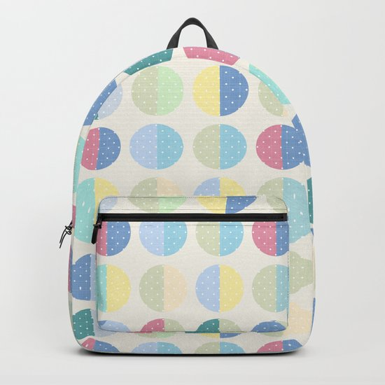 Retro . The pattern is polka dot . Backpack