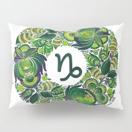 Capricorn in Petrykivka Style (with signature) Pillow Sham