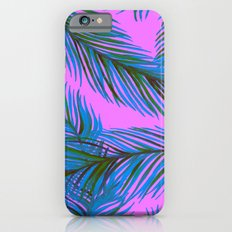 Blue and Purple Palms Pattern Slim Case iPhone 6s