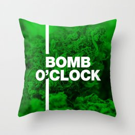Bomb O'clock - Marijuana bud design Throw Pillow