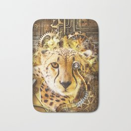 Steampunk Cheetah Bath Mat