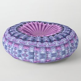 Pretty mandala in blue and violet tones Floor Pillow