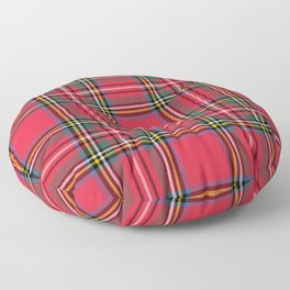 Red Tartan Floor Pillow