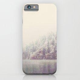 winter wonderland & the mountain lake ...  iPhone Case