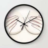 naked Wall Clocks featuring Naked by Kate Ilyina