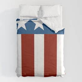 Red White Blue Patriotic Abstract Design Comforters