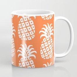 Retro Mid Century Modern Pineapple Pattern Orange 2 Coffee Mug