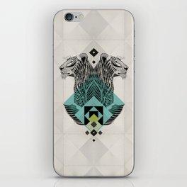 Blue Leopard iPhone Skin
