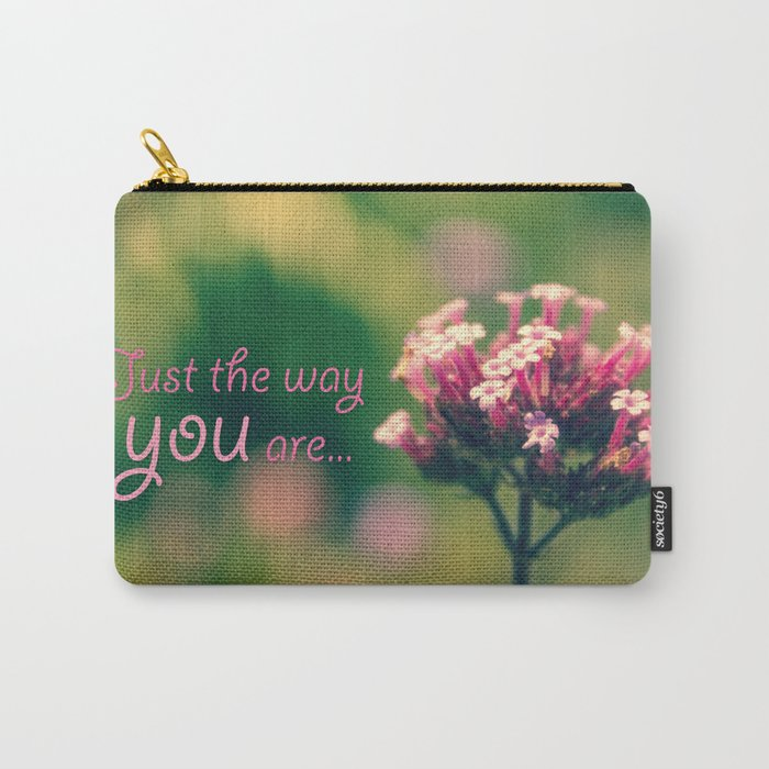 Spring Blooming Pink Flowers with Green Bokeh Background Carry-All Pouch