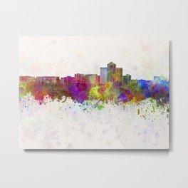 Tucson skyline in watercolor background Metal Print