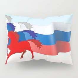 Horse flag of Russia Pillow Sham
