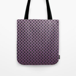 Chain Link Gleaming Rose Pink Metal Pattern Tote Bag